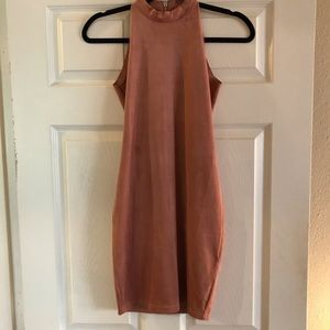 Olivaceous Suede Pink Dress